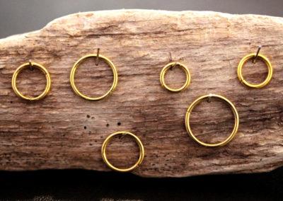 Piercing Ringe in Gold