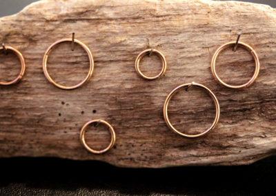 Piercing Ringe in Rosegold